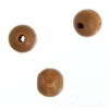 Wooden Bead Round 8mm Coffee Lacquered